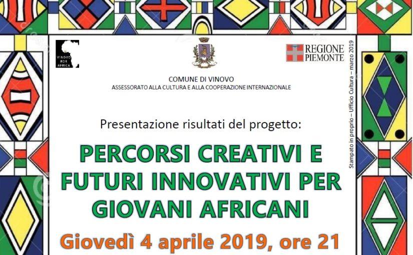 A Vinovo – Serata per la presentazione dei risultati del progetto Percorsi creativi