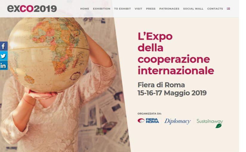 Dal 15 al 17 maggio al via EXCO 2019 – la fiera della cooperazione internazionale